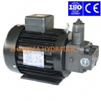 Aluminum housing electric motor vane pump set for hydraulic